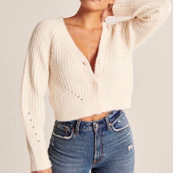 Abercrombie Chenille Cropped Cardigan